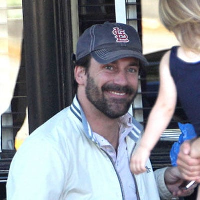Pictures of Jon Hamm With Jennifer Westfeldt and Jack McBrayer in LA