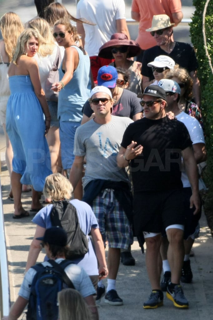 Leo was joined by pals Ethan Suplee and Lukas Haas in Sydney.