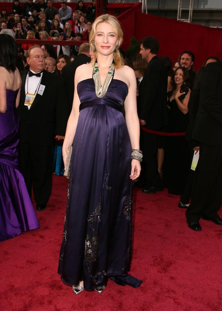 Cate Blanchett in Purple Dries Van Noten at the 2008 Oscars