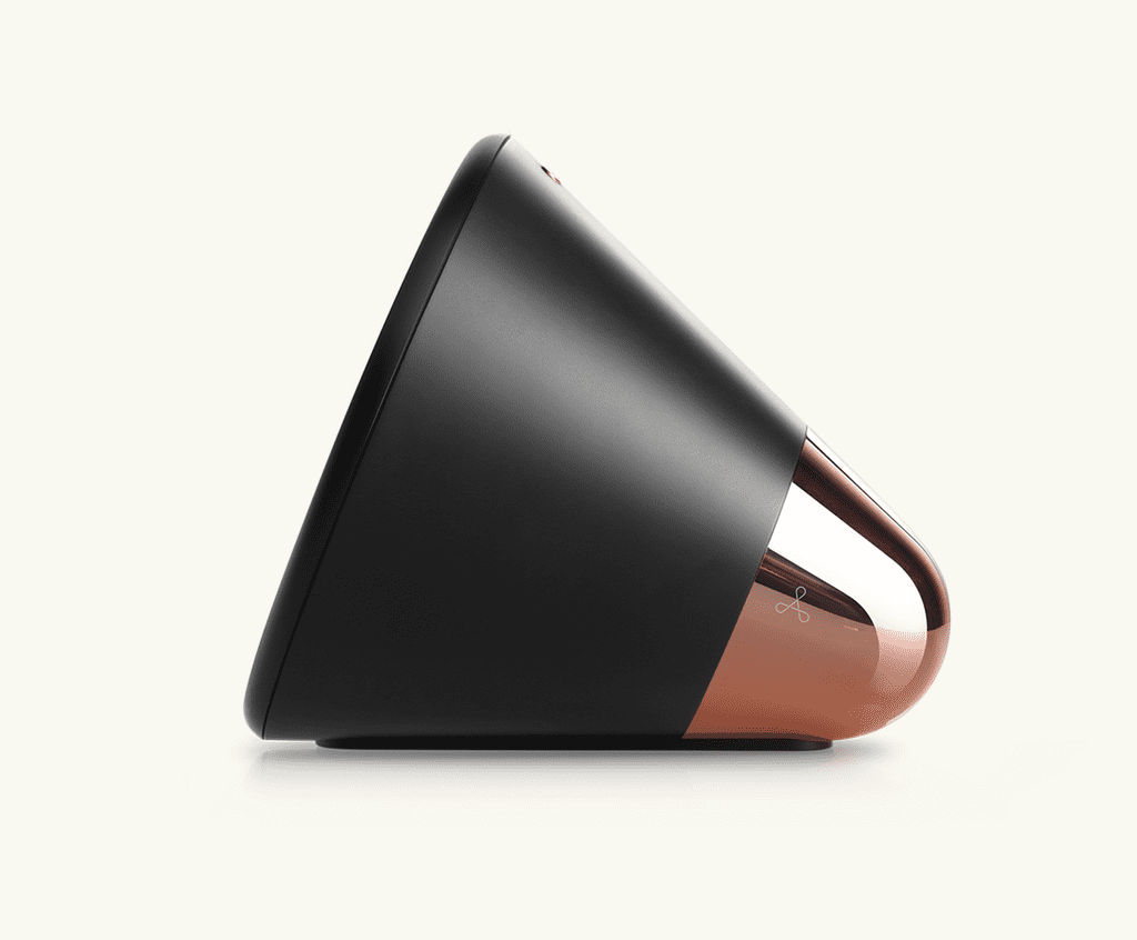 Black and Copper Side View