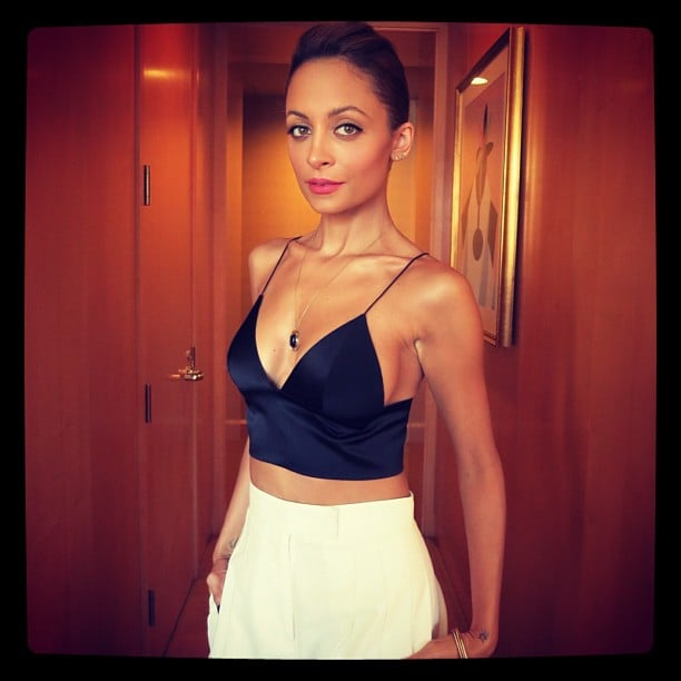Nicole Richie flaunted her toned figure in a crop top before heading to the Today show. Source: Instagram user nicolerichie