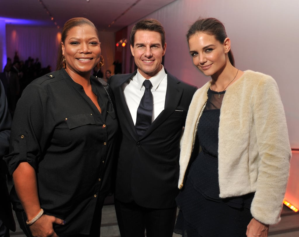 Queen Latifah hung out with Tom Cruise and Katie Holmes in NYC.