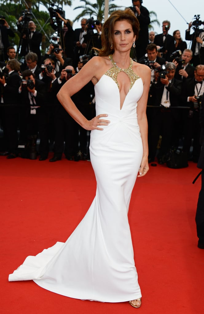 Cindy Crawford at the Cannes premiere of The Great Gatsby.