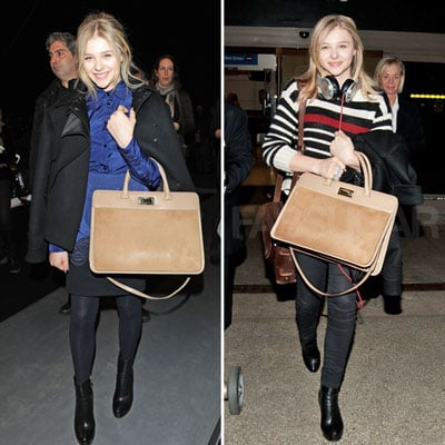 Chloe Moretz Carrying Max Mara Bag