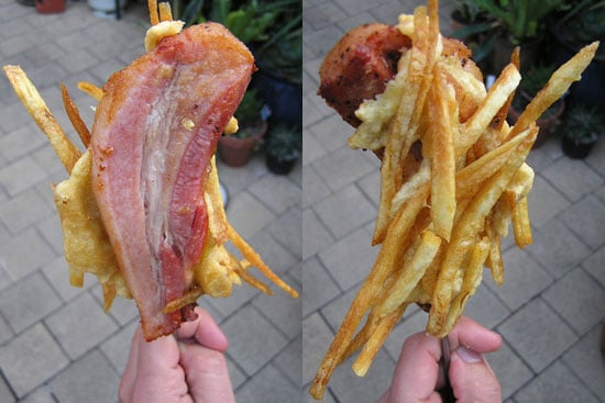 Would You Eat This French Fry-Coated Bacon on a Stick?