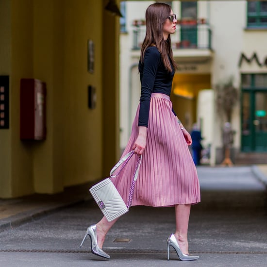 How to Wear a Pleated Midi Skirt | Outfit Ideas