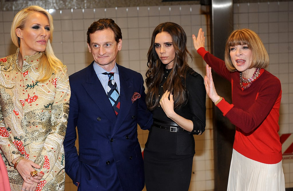 """Victoria Beckham Poses in the Subway During a Break From Taking """"NYFW by the Balls"""""""