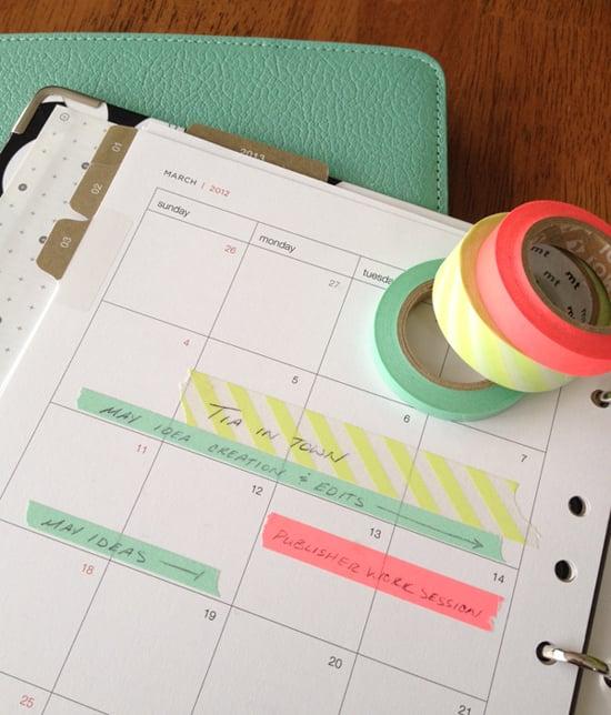 Washi Tape Calendar