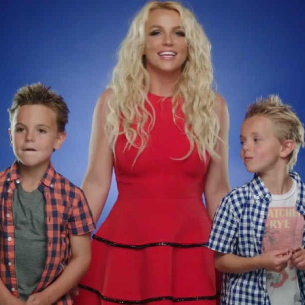 Britney Spears shared the screen with sons Preston and Jayden in her new video. Source: Instagram user britneyspears
