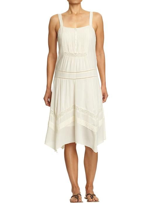 This everyday dress's lace trim makes it feel a lot more special.  Old Navy Lace-Trim Drop-Waist Dress ($40)