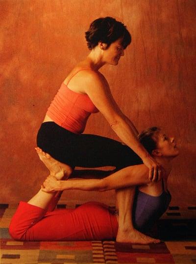 Partner Yoga Pose: Seated Bow