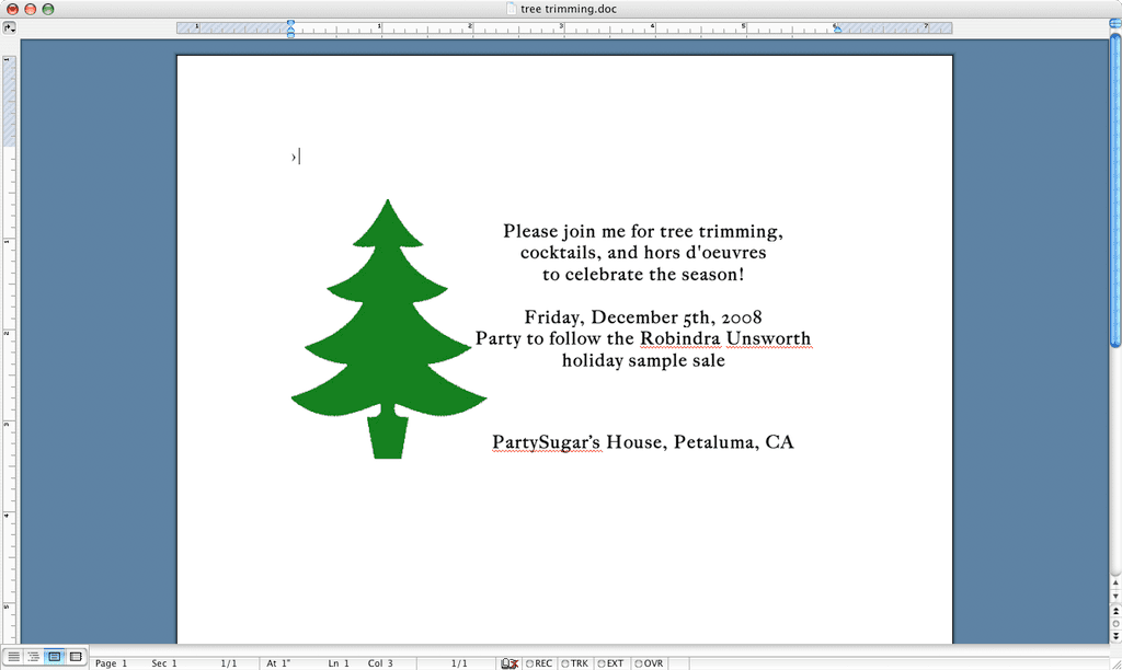 Tree Trimming Invite: Step by Step