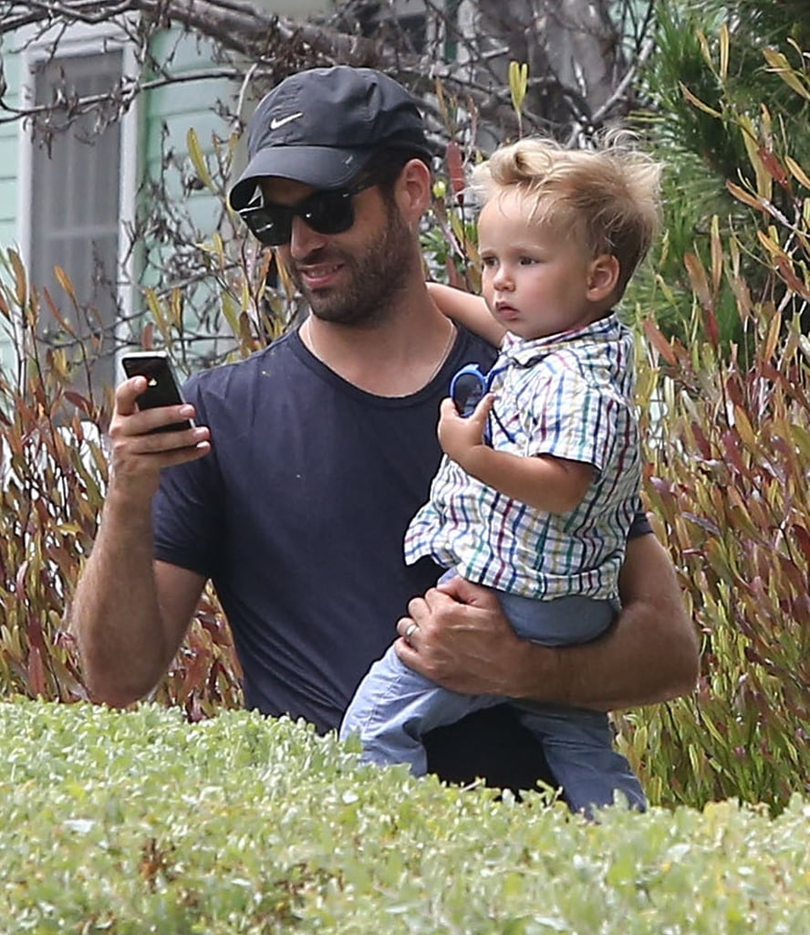 Benjamin Millepied spent time in LA with his son, Aleph, on Saturday.