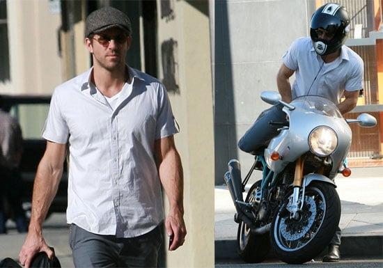 Photos of Ryan Reynolds on Motorcycle