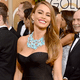 Instagram liked the Modern Family vixen's turquoise necklace just as much as her purple lipstick. Overall, Sofia Vergara's Golden Globes look can be considered a red carpet win.