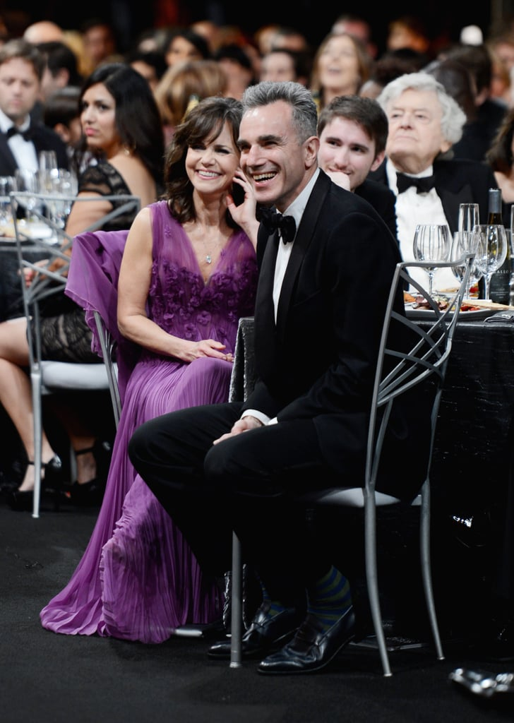 Sally Field and her Lincoln costar Daniel Day Lewis laughed during the show.