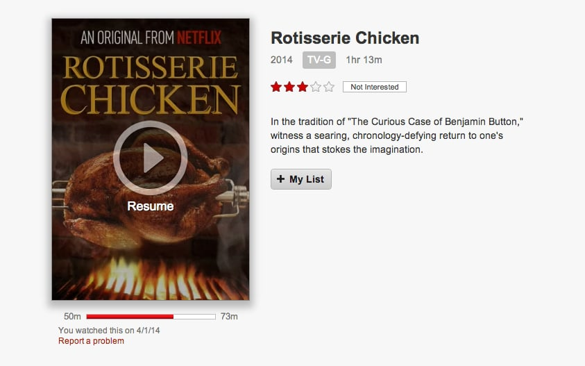Netflix Sizzling Bacon and Rotisserie Chicken