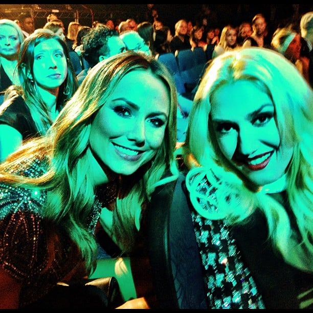 Stacy Keibler hung out with Gwen Stefani at the AMAs. Source: Twitter User StacyKeibler