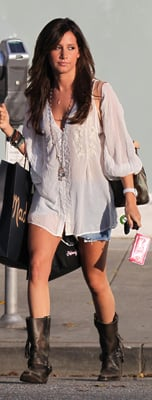 Ashley Tisdale Wears White Joie Blouse
