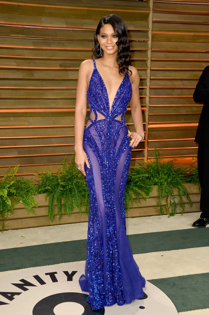 Chanel Iman at the 2014 Vanity Fair Oscars Party