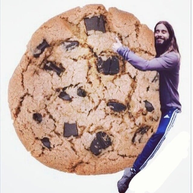 Jared Hugging a Cookie