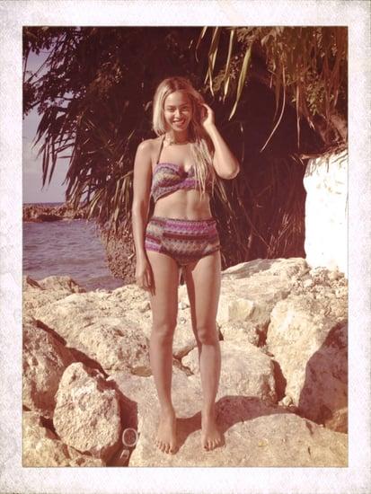 Beyoncé wore a bikini while on vacation.  Source: Tumblr user beyonce