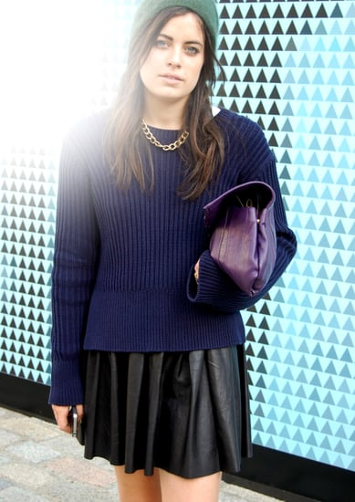 How to Wear the Full Leather Skirts Trend