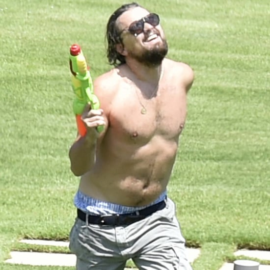 Leonardo DiCaprio Shirtless With Toni Garrn