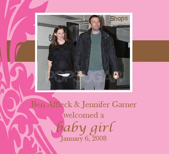 Ben Affleck and Jennifer Garner Welcomed a Baby Girl!