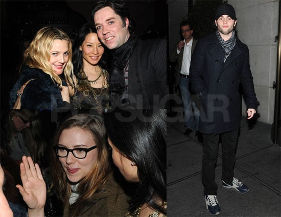 Photos of Scarlett Johansson, Drew Barrymore, Lucy Liu, and Penn Badgley at a Rufus Wainwright Show in Los Angeles