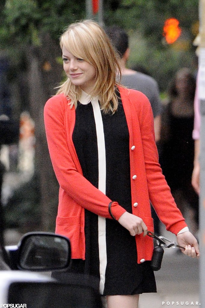 Emma Stone said farewell to her mom after a visit in NYC.