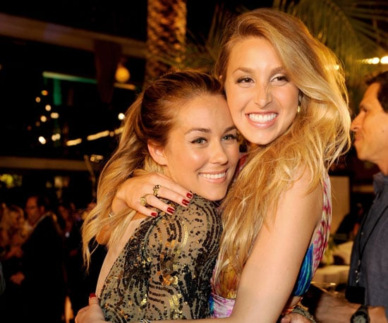 Slide Picture of Lauren Conrad and Whitney Port at Hills Finale Party