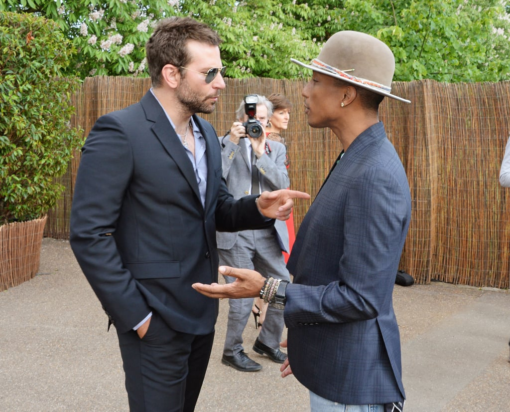 Bradley Cooper Shows PDA With Suki and Socializes With Pharrell