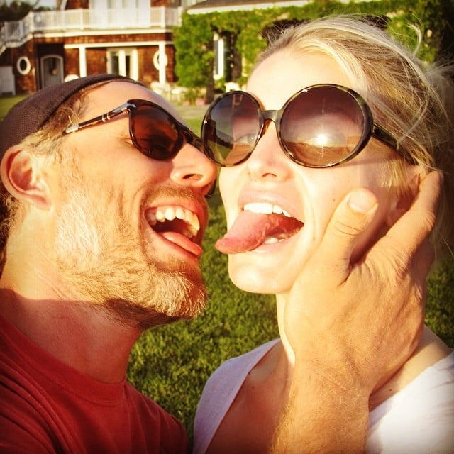 Jessica and Eric got silly in this Instagram snap from April 2014.