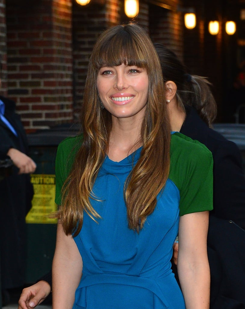 Jessica Biel smiled for photos while out in NYC.