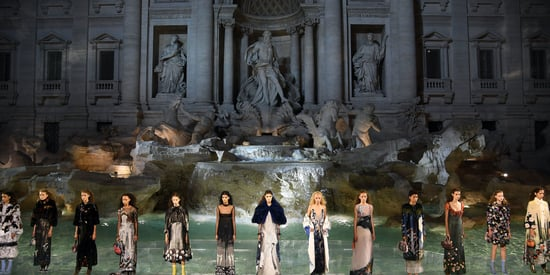 Fendi Models Walked On Top Of Rome's Trevi Fountain Last Night