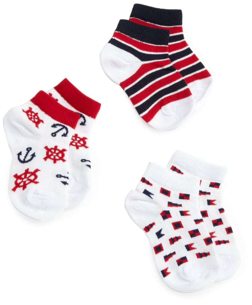 Complete an outfit or add a nautical touch with these sailor socks ($4).