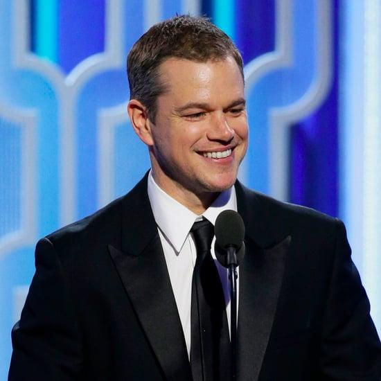 Matt Damon Acceptance Speech Golden Globes 2016