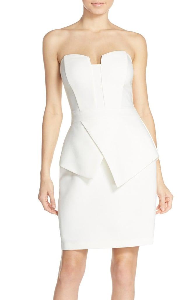 Adelyn Rae Strapless Peplum Sheath Dress ($92)