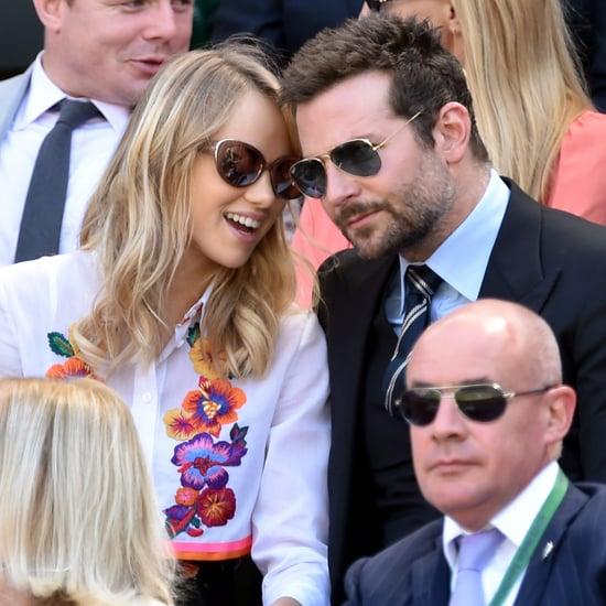 Bradley Cooper and Suki Waterhouse at Wimbledon 2014