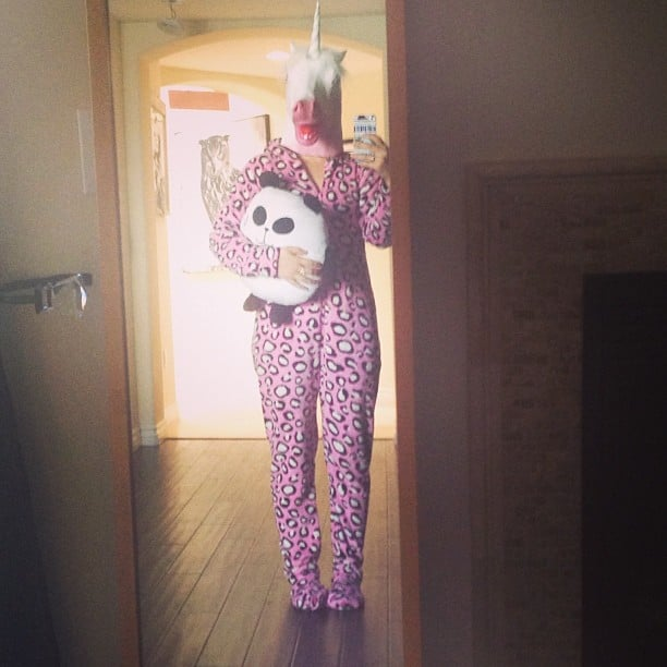 """Lucy Hale dressed up as a """"rare jagicorn."""" Source: Instagram user lucyhale"""