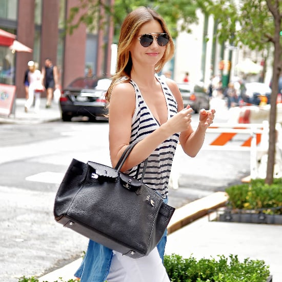 Miranda Kerr Repeats Her Outfits For Street Style
