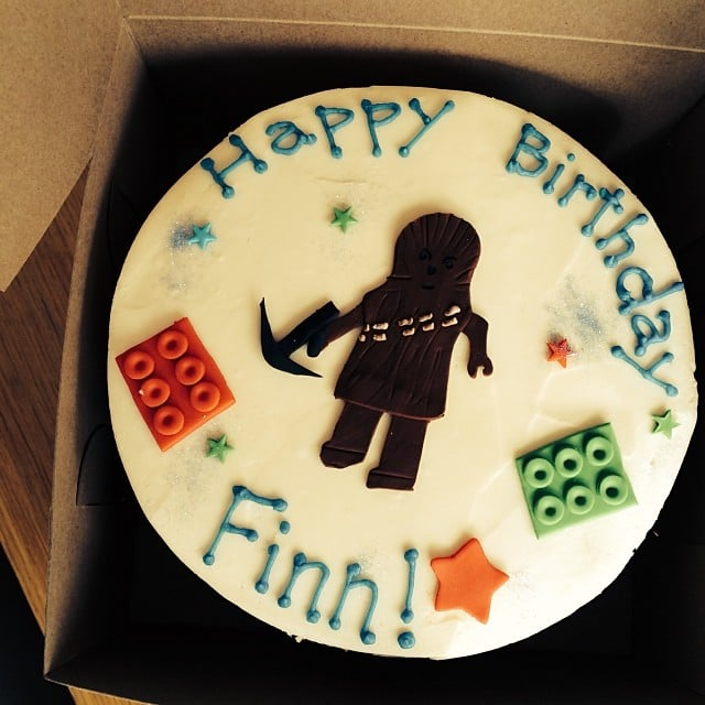 Christy Turlington celebrated her son Finn's birthday with a combination Lego/Star Wars cake. Source: Instagram user cturlington