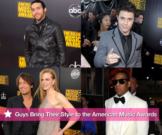 Guys Bring Their Style to the American Music Awards