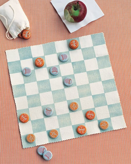 Make Your Own Canvas Checkerboard