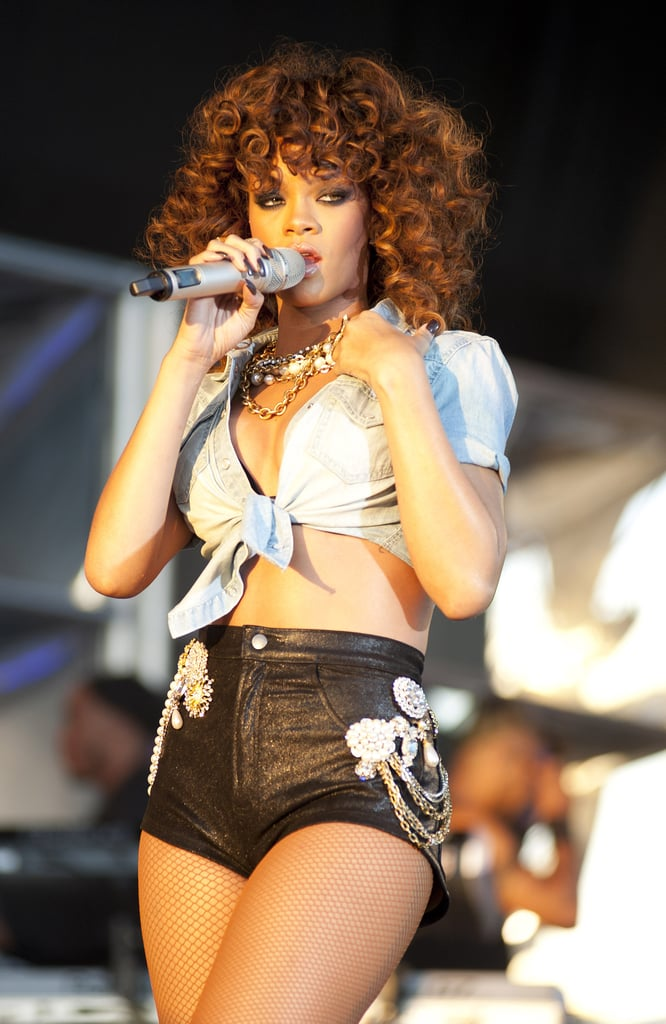 Rihanna took control of the stage at the V Festival.