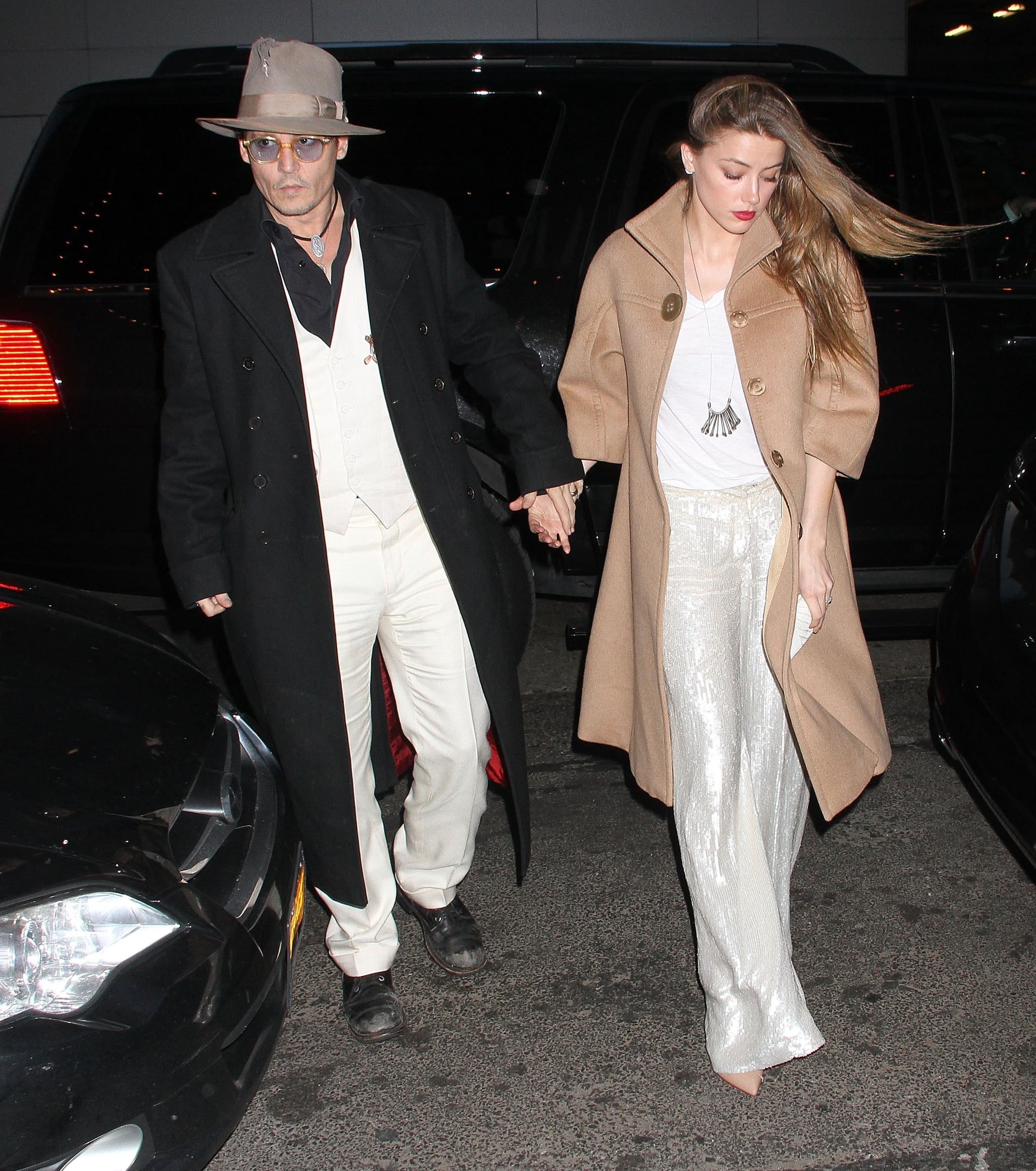 Johnny Depp and Amber Heard Have a Broadway Date Night