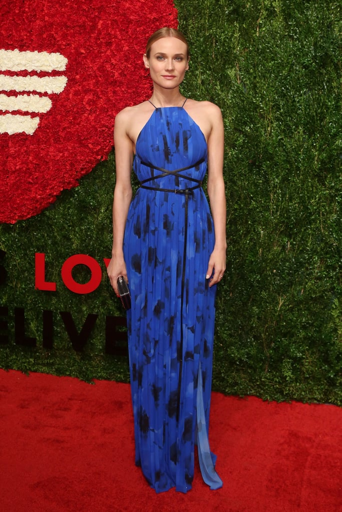 The star didn't shy away from bright colors at the God's Love WE Deliver Golden Heart Awards in a blue Michael Kors Collection dress.