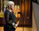 Christina Aguilera accepted an honor at the ALMA Awards in LA.