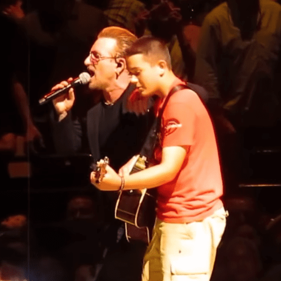 Bono Gives Boy a Guitar on Stage